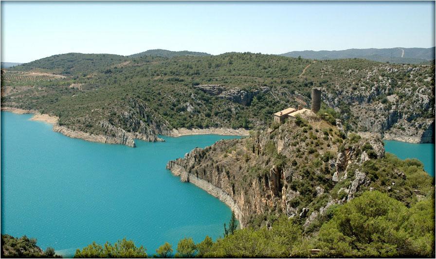 het blauwe meer bij Secastilla